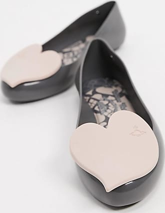 Vivienne Westwood heart flat shoes in slate-Grey