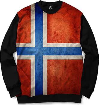 BSC Moletom Gola Careca BSC Bandeira Noruega Sublimada Vermelho