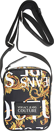 Versace Jeans Couture Weekender Duffel Bag for Men, Black, polyester, 2017, one size