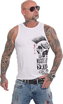 Yakuza Mens Solid Tank Top T-Shirt - White - X-Large
