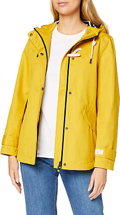 Joules Womens Coast Rain Jacket, Antique Gold, 12