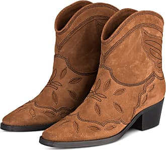 Ganni Cowboy Boots TEXAS - BRAUN