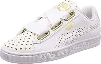 a7632dd55766 Puma Basket Heart Ath Lux Damen Sneaker Puma White-Puma White 4