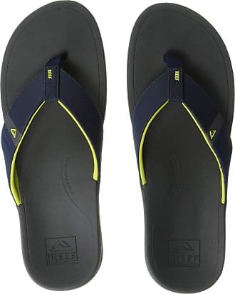 Reef Mens Ortho-Bounce Sport Flip Flops, Multicolour (Navy/Yellow Navy), 11 UK
