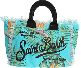 MC2 Saint Barth Tote Bag, Turquoise, Canvas, 2017, one size