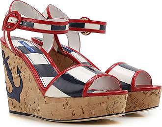 8ff4bf882df8b9 Dolce & Gabbana Chaussure à Talon Compensé Femme Pas cher en Soldes Outlet,  Rouge,