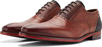 Floris Van Bommel Cognacfarbener Kalbsleder Schnürschuh, Business Schuhe, Handgefertigt