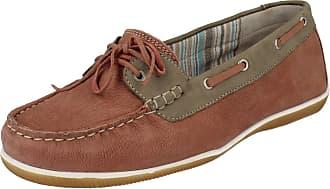 Padders Ladies Moccasin Style Shoes Marina - Pink Combi Leather - UK Size 6.5E - EU Size 40 - US Size 8.5