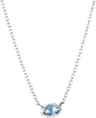 Efva Attling Love Bead Necklace Silver - Topaz Necklaces
