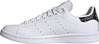 adidas Originals Womens Stan Smith Sneaker, White/Black/Gold Metallic, 10.5