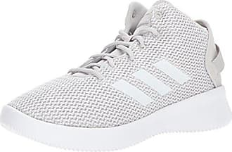 adidas Mens Cf Refresh Mid Basketball Shoe ONE White Grey Two d722739a9