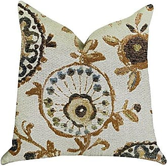 Plutus Brands Daliani Floral Double Sided Standard Luxury Throw Pillow 20 x 26 Brown/Beige/Green