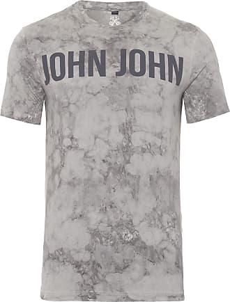 John John T-SHIRT MASCULINA RX SUPER CLOUDS - CINZA