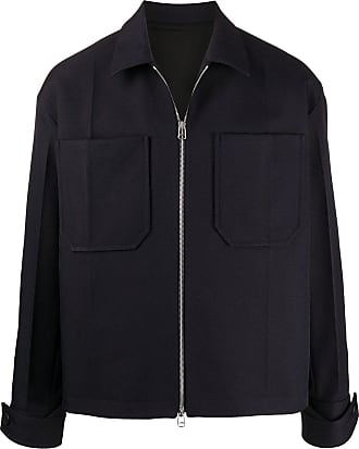 OAMC Navy blue zippered overshirt