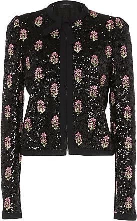 Giambattista Valli Sequin-Embroidered Collarless Jacket