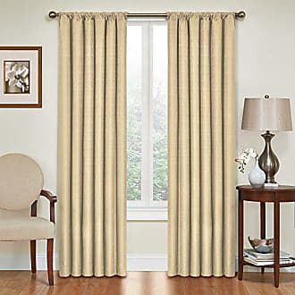Eclipse Blackout Curtains for Bedroom - Kendall 42 x 63 Insulated Darkening Single Panel Rod Pocket Window Treatment Living Room, Café