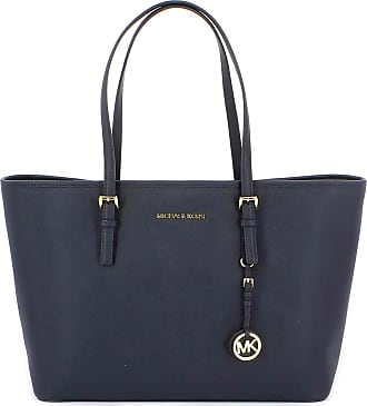 Michael Kors BORSA TOTE JET SET TRAVEL MEDIA IN PELLE SAFFIANO 104 colore  ADMIRAL 19bcd3d015b