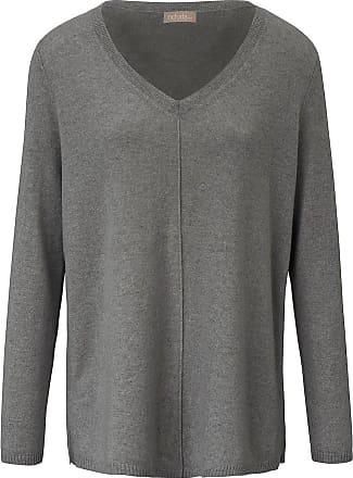 include V-Pullover aus 100% Premium- Kaschmir include grau