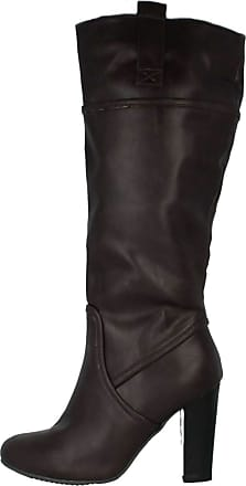 LADIES DARK PURPLE KNEE HIGH RIDING TALL ZIP-UP BOOTS SMART WORK SHOES SIZES 3-8