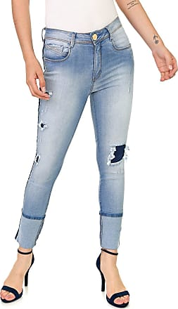 Lança Perfume Calça Jeans Lança Perfume Slim Diana Azul