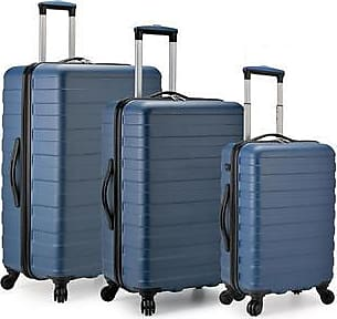 U.S. Traveler Us Traveler Spinner Luggage Set With Usb Smart Carry-On 3 Piece - Navy U.S. Traveler