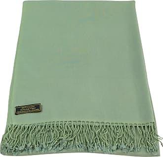 CJ Apparel Laurel Green Solid Colour Design Nepalese Tassels Shawl Scarf Wrap Stole Throw Pashmina CJ Apparel NEW