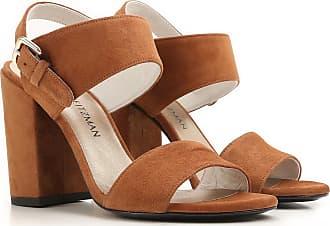 online store 2809b 44f56 Stuart Weitzman Zapatos de Mujer Baratos en Rebajas Outlet, Marrón, Gamuza,  2017,
