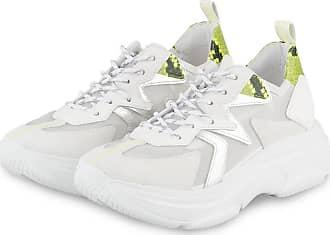Kennel & Schmenger Plateau-Sneaker - WEISS/ NEONGELB/ SILBER