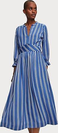 Scotch & Soda Bedrucktes Satin Midi Kleid - Medium