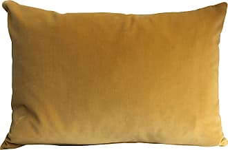 The Hackney Draper Cushion Velvet Turmeric Rectangle - Yellow