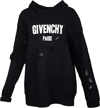 Givenchy Mens Black Distressed Logo-print Cotton Hoodie Sz M b39b2586a6