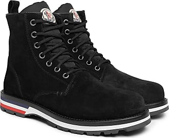 Moncler New Vancouver Shearling-lined Suede Boots - Black
