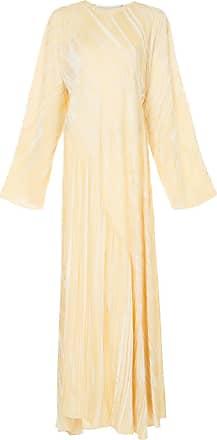Rosetta Getty Vestido plissado - Amarelo
