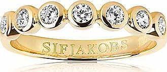 Sif Jakobs Jewellery Ring Sardinien Sette - 18k gold plated with white zirconia