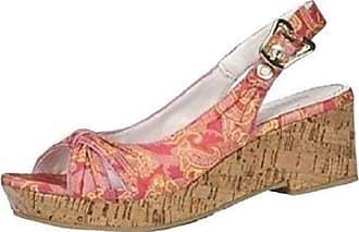 35b6494e8d Blink High-heeled sandals Cork look from Blink From Satin reddish - Red,  Women