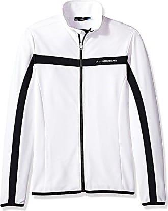 J.Lindeberg Mens Brushed Fieldsensor Jacket, White, M