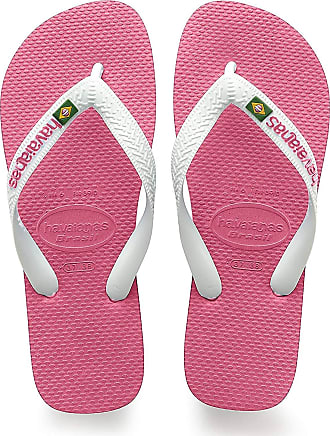 Havaianas Unisex Adults Brasil Logo Flip Flops, Hollywood Rose, 10/11 UK Child 29/30 EU