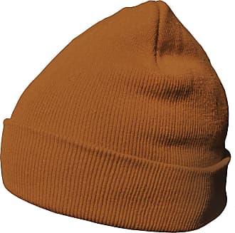 DonDon winter hat beanie warm classical design modern and soft orange brown