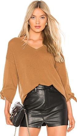 Velvet Cashmere Blend Freja Sweater in Brown
