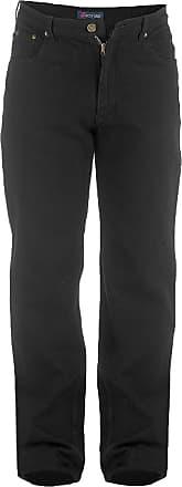 Duke London Duke Mens Rockford Tall Comfort Fit Jeans (32XL) (Black)