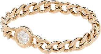 Zoë Chicco Anel em ouro 14k com diamante pequeno - YELLOW GOLD