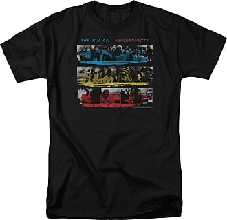 Popfunk The Police Syncronicity Unisex Adult T Shirt for Men and Women Black