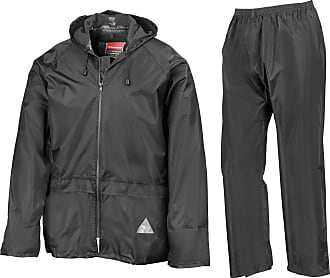 Result Waterproof Jacket/Trouser Suit in Carry Bag Adult Mens Black Size XXL