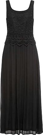 Bonprix Kleid mit Spitze ohne Ärmel schwarz, bonprix
