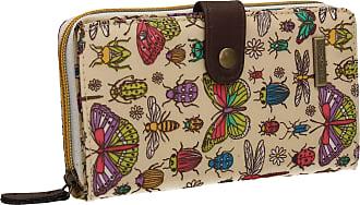 Swankyswans Borella Butterfly Bugs & Dragonfly Animal Print Bi-fold Womens Long Wallet Clutch Purse Beige