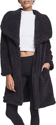 Urban Classics Womens Ladies Soft Sherpa Coat Parka, Black (Black 00007), M