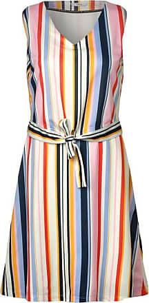 Cecil Kleid mit bunten Streifen - alabaster beige