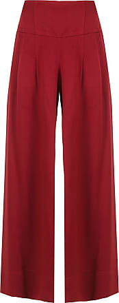 Alcaçuz Calça Lacerda pantalona - Vermelho