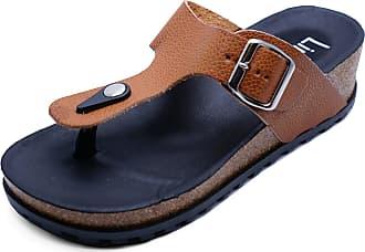 de5e43c0e159 HeelzSoHigh Ladies Brown Toe-Post Wedges Summer Sandals Flip-Flop Holiday  Walking Shoes Sizes