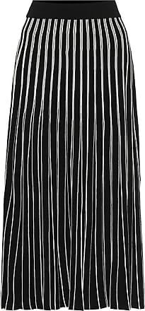 Tory Burch Pleated striped knit midi skirt